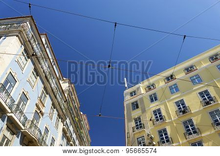 Architectural detail in Lisbon, Portugal, Europe