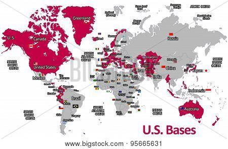 U.S. Bases Map
