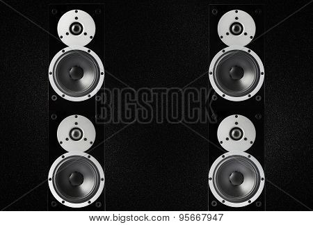 Black Glossy Music Speakers