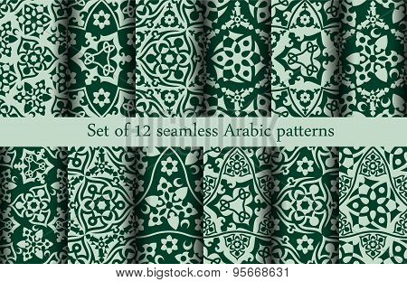 Set of 12 Arabic patterns