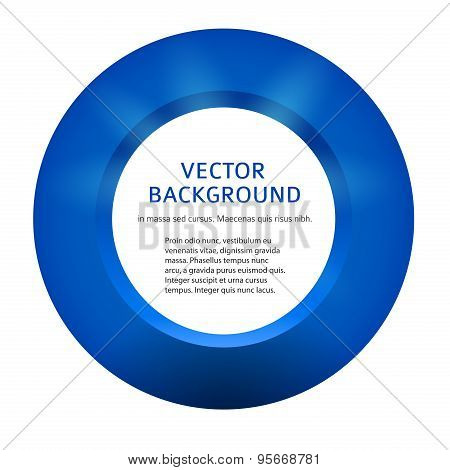 3D Blue Ring Volume Is Insulated White Background