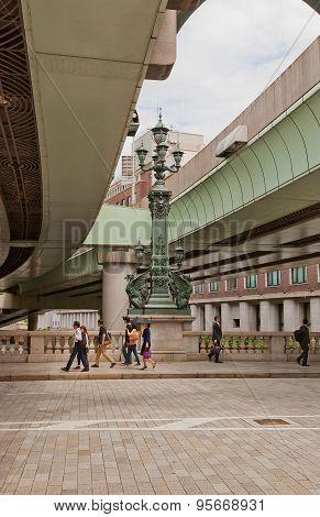 Lantern Of Nihonbashi Bridge In Tokyo, Japan