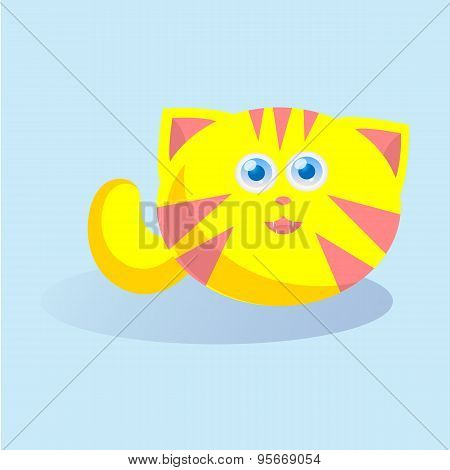 funny cat with big blue eyes