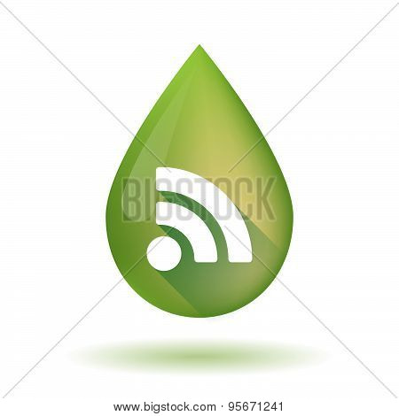 Olive Oil Drop Icon With An Rss Sign