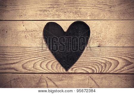 Heart In Wooden Wall
