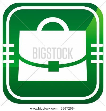 Case - Vector Green Icon Isolated