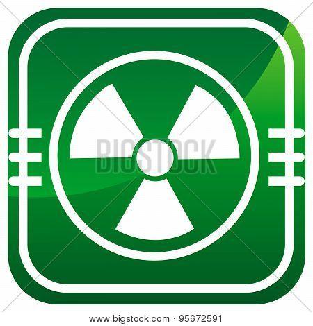 Radioactive Vector Green Icon