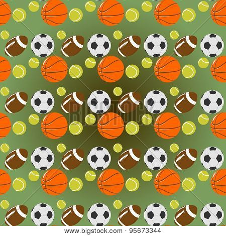 sports seamless pattern