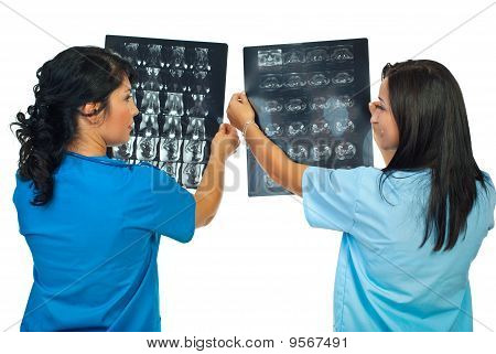 Two Doctors Compare Results Of Mri