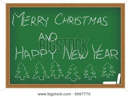 Green Chalkboard With Christmas Wish