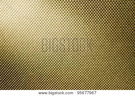 Gold Fabric Nylon Background Texture With Light From Corner