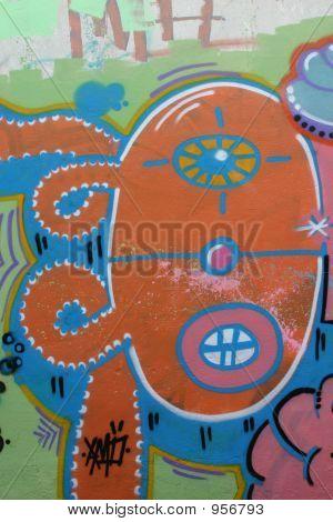 Graffiti-Gesicht