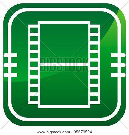 Film Green Icon. Film Camera