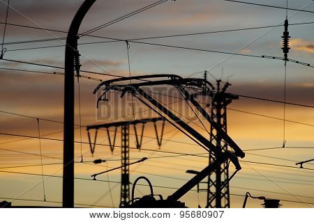 Electrical cable to a railway