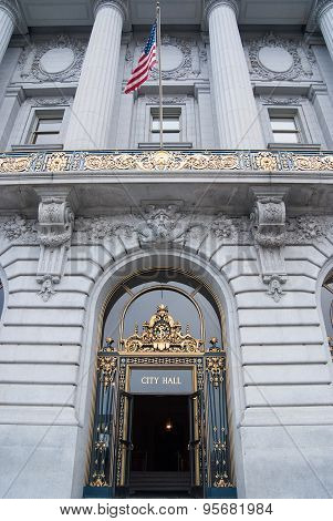 Entrance To City Hall, San Francisco, California