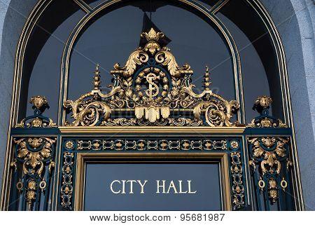 Entrance To City Hall, San Francisco,california