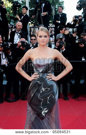 Lindsay Ellingson attends the 'Carol' premiere during the 68th annual Cannes Film Festival on May 17, 2015 in Cannes, France.