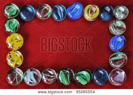 decoration stones on red velvet background