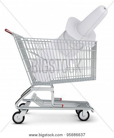 Nasal spray in shopping cart