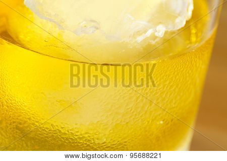 Close up drops of Ice Cold Pint of Beer