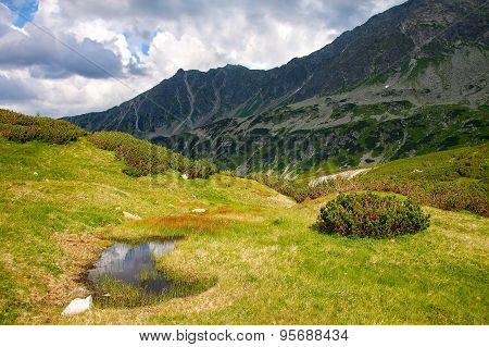 Mountain View In Tatras On A Bright Day