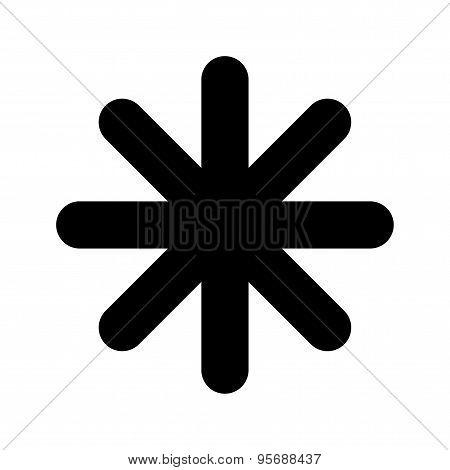 Asterisk star icon