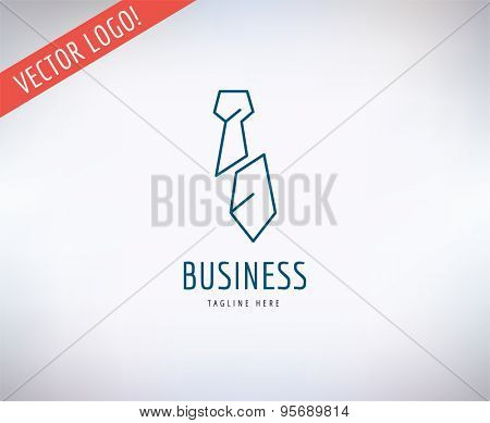 Tie vector logo icon. Business, bank and lawer symbol. Stocks design elements.