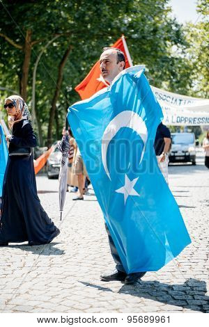 Uyghur Human Rights Activists Protest
