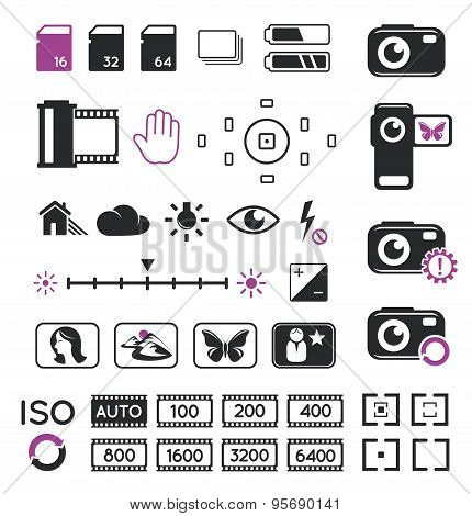 Camera Display Icons And Symbols