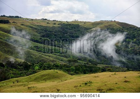 Clouds Raising From The Ground In Highland Savanna