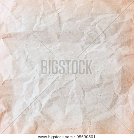 Textured crumpled paper, Brown color, Disastrously, Wrinkle