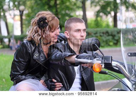 Portrait of a nonconformist motorcyclists
