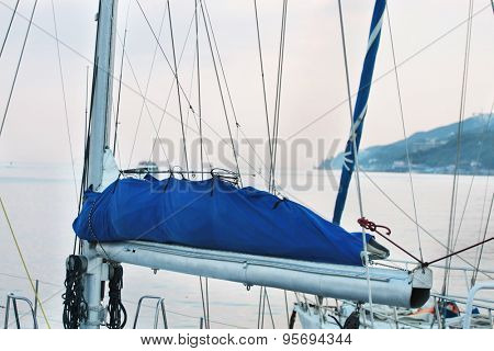 the image of a tackle on a sailboat