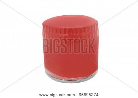 oil strainer isolated under the white background