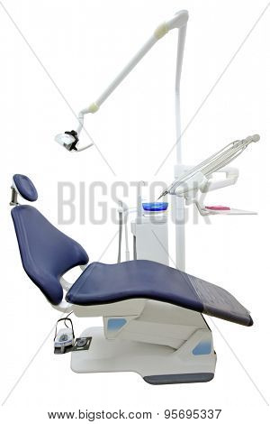 dantist chair isolated under the white background