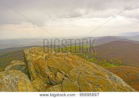 Bare Rocks Above Eastern Mountains