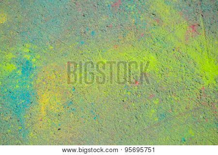 Background Of Colorful Holi Powder