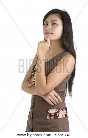 Woman Thinking Of Something