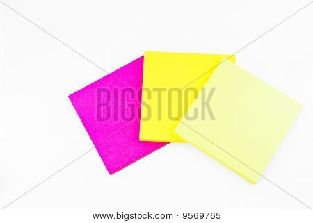 Colorful Paper Notes Memo Isolated
