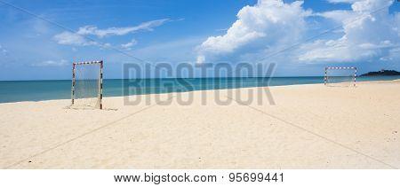 Beach Football Pitch Popular Sport