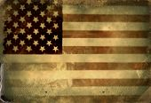 stock photo of memorial  - Instagram filtered image of a vintage style American Flag for 4th of july - JPG