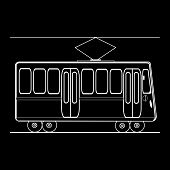 stock photo of municipal  - Tram city public municipal passenger transport - JPG