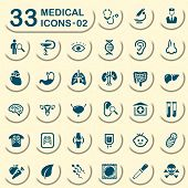 stock photo of mortuary  - Medical vector icons for mobile phone interface and web - JPG