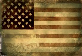 picture of labor  - Instagram filtered image of a vintage style American Flag for 4th of july - JPG