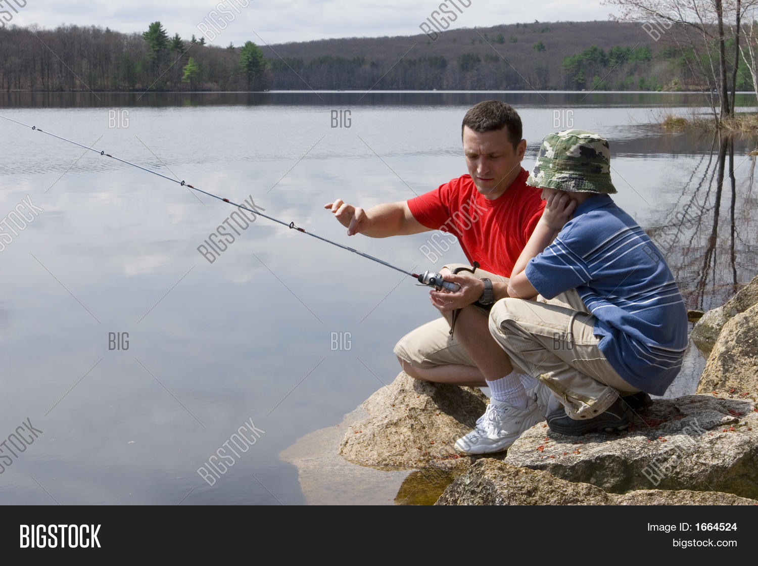 Father son fishing image photo bigstock for Father son fishing
