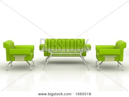 Green Office Sofa