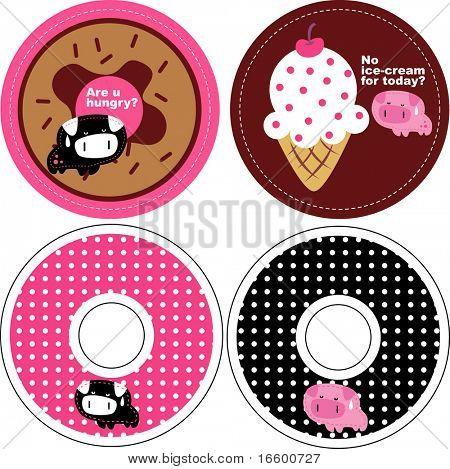 round pig card