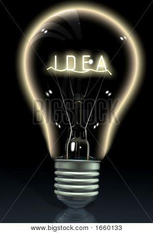 Idea On A Light Bulb