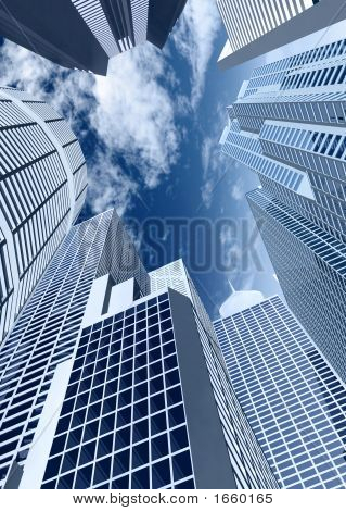 Corporate Buildings In Perspective