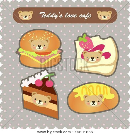 süße Dessert-set 10